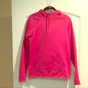 Nike pink long sleeve hoody therms fit XS